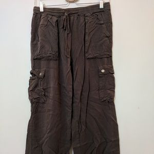 Forever 21 green/brown Drawstring Pants
